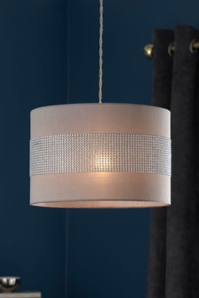 Lighting ceiling lights lamp shades lampshades ceilinglights grey diamant easy fit pendant mozeypictures Gallery