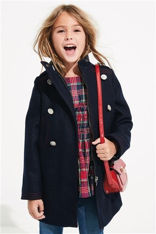 Buy Navy Military Coat (3-16yrs) from Next USA