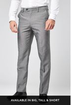 Light Grey Regular Fit Suit: Trousers