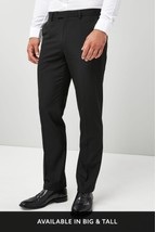 Black Tuxedo Regular Fit Suit: Trousers