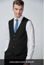 Black Tuxedo Suit: Waistcoat