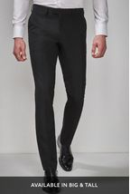 Black Tuxedo Slim Fit Suit: Trousers