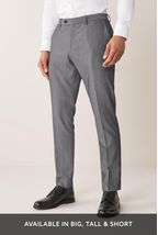 Light Grey Slim Fit Suit: Trousers