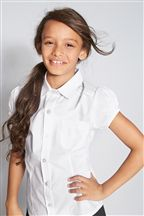 White Short Puff Sleeve Shirt (3-16yrs)