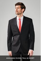 Black Regular Fit Suit: Jacket