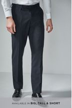 Navy Regular Fit Suit: Trousers