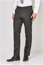 Grey Regular Fit Suit: Trousers