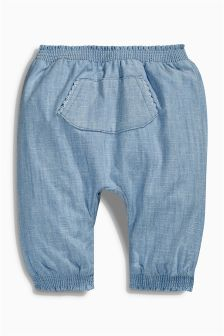 Blue Chambray Trousers (0mths-2yrs)