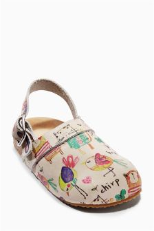 Multi Printed Clogs (Younger Girls)