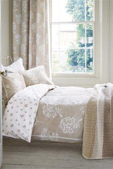 Cotton Rich Lace Floral Bed Set