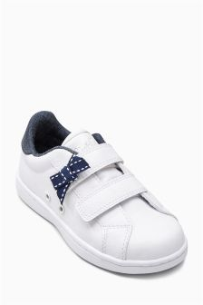 White Bow Trainers (Younger Girls)
