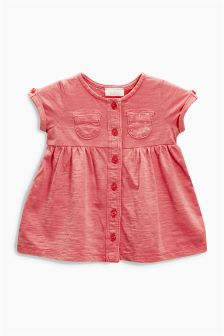 Coral Jersey Dress (0mths-2yrs)