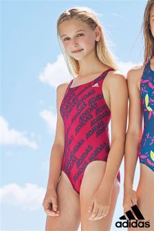 Pink Adidas All Over Print Swimsuit