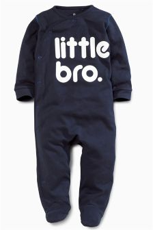 Navy Little Brother Leepsuit (0-18mths)