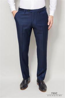 Blue Signature Suit: Trousers