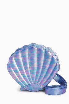 Blue Shell Cross Body Bag
