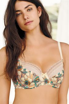 Floral Print Lizzie Non Padded Balcony DD+ Bra
