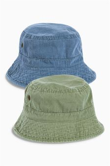 Green/Blue Fisherman Hats Two Pack (Older Boys)