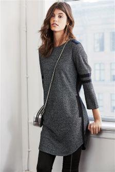 Grey Colourblock Tunic