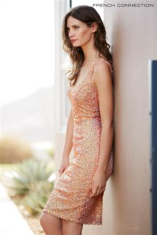 Pink French Connection Celia Sequinned Dress