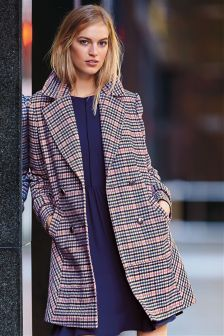 Blue/Pink Check Coat