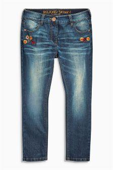 Denim Dk Wash Embroidered Jeans (3-16yrs)