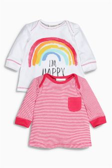 Long Sleeve T-Shirts Two Pack (0mths-2yrs)