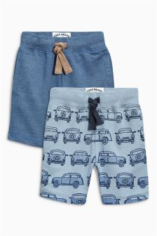 Blue Car Shorts Two Pack (3mths-6yrs)