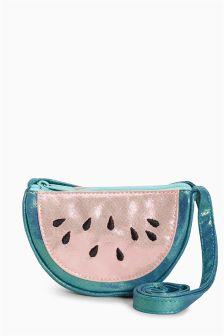 Pink/Green Watermelon Cross Body Bag