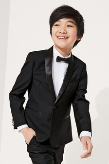 Black Tuxedo Jacket (3-16yrs)