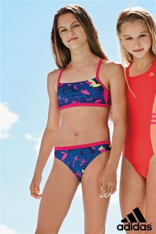 Blue adidas Print Two Piece Swimsuit