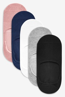 Mixed Invisible Trainer Socks Five Pack