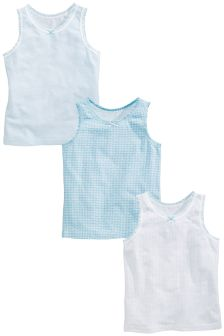 Blue/White Vests Three Pack (1.5-16yrs)
