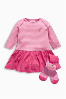 Dress And Tights Set (0mths-2yrs)