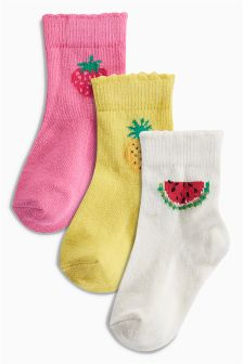 Fruit Socks Three Pack (Younger Girls)