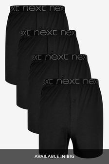 Black Loose Fit Four Pack