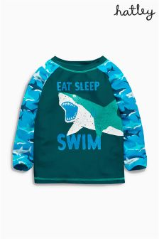 Navy Hatley Shark Rash Vest