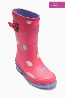 Pink Little Joule Spotted Welly