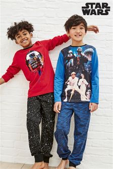 Red/Blue Star Wars™ Pyjamas Two Pack (3-12yrs)