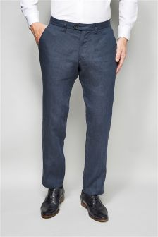 Linen Tailored Fit Trousers