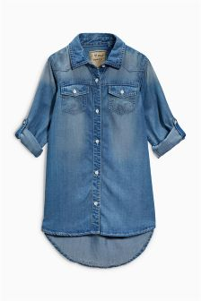 Dark Denim Shirt Dress (3-16yrs)