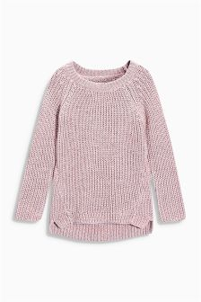 Pink Metallic Sweater (3-16yrs)