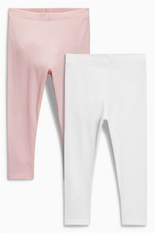 Pink/White Leggings Two Pack (3mths-6yrs)