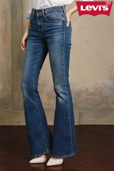 Mid Wash Levi's® High Rise Flare Jean