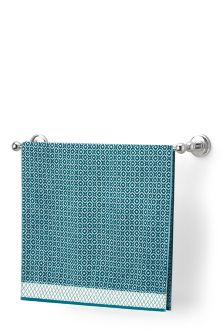 Teal Small Geo Towel