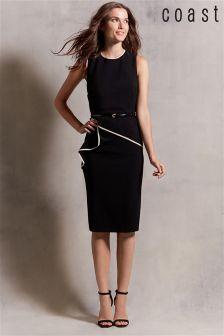 Black & Blush Coast Shelly Tipped Dress
