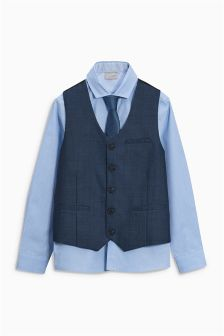 Blue Waistcoat Set (12mths-16yrs)