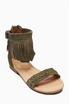 Fringe Sandals (Older Girls)
