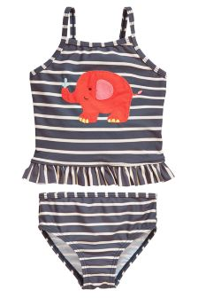 Navy Elephant Appliqué Tankini (3mths-6yrs)