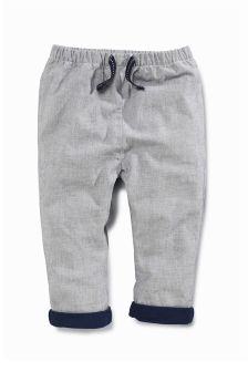 Navy Woven Smart Trousers (0mths-2yrs)